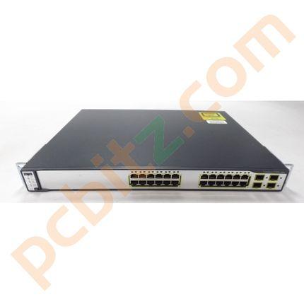 Cisco Catalyst WS-C3750G-24TS-S1U V03 24 Port Gigabit Switch