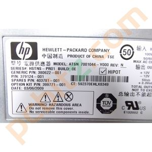 HP Proliant ML 350 G5 Power Supply ATSN 7001044-Y000 380622-001 403781-001