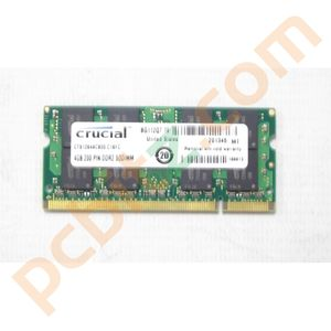 Crucial CT51264AC800 4GB 200 PIN DDR2 SODIMM 800MHz DDR2 Laptop Memory